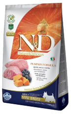 Корм для собак Farmina N&D Grain-Free Canine Pumpkin Lamb & Blueberry Adult Mini (Фармина корм для собак мелких пород Ягненок с Черникой мини)