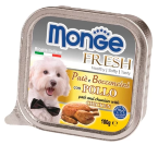 Консервы для собак Monge Dog Fresh - Нежный паштет для собак из курицы